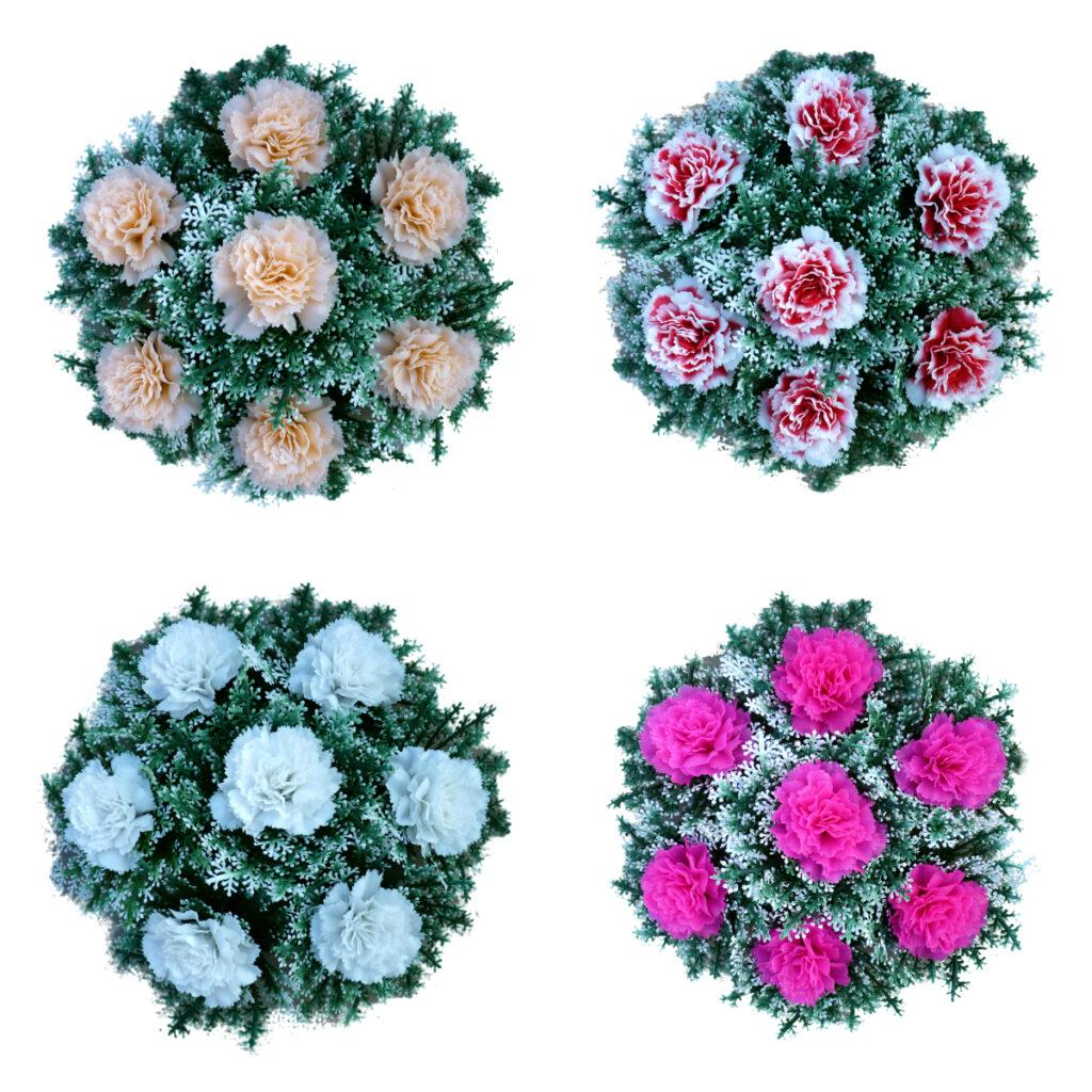7 virágos koszorú