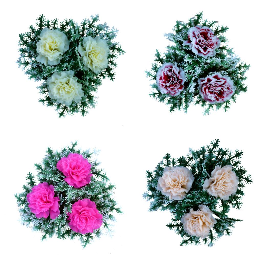 3 virágos koszorú