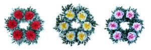 6 virágos koszorú